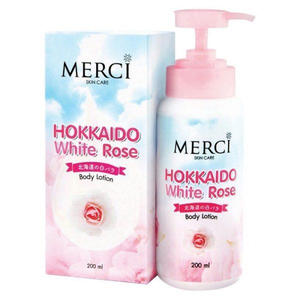 Лосьон Для Тела С Экстрактом Белой Розы И Глутатионом Merci Skin Care Hokkaido White Rose Body Lotion