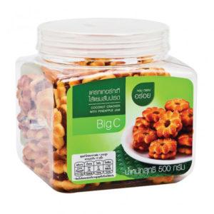 Кокосовые Крекеры С Начинкой Из Ананасового Джема Cracker Coconut Bigc With Pineaple Jam