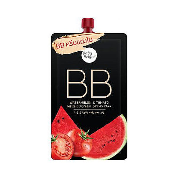 Матирующий BB Крем Для Лица С Арбузом И Томатом c SPF-фильтром Baby Bright Bb Watermelon & Tomato Matte Bb Cream Spf 45 Pa++
