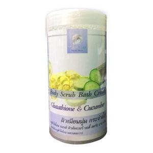 Скраб Для Тела С Экстрактом Огурца И Глутатионом Pornthap Glutathione & Cucumber Body Scrub Bath Cream