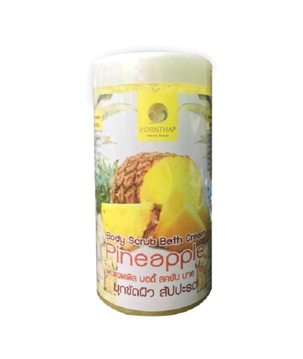 Скраб Для Тела С Экстрактом Ананаса Pornthap Pineapple Body Scrub Bath Cream