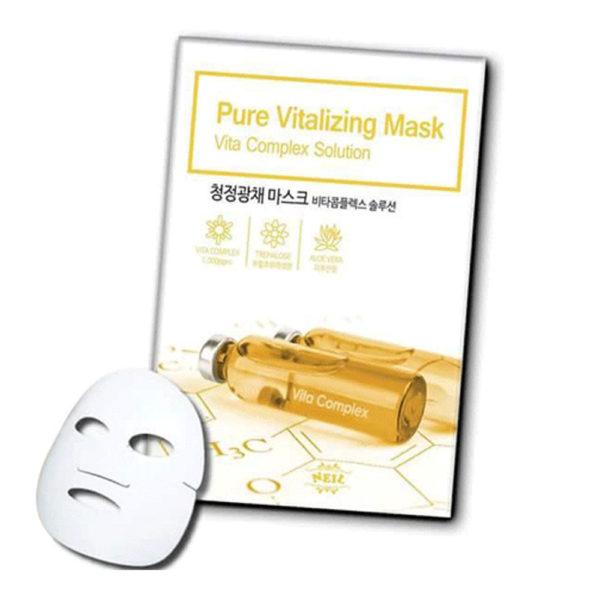 Восстанавливающая Тканевая Маска С Витаминным Комплексом Neil Pure Vitalizing Mask Vita Complex Solution