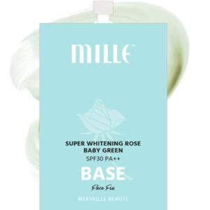Праймер С Экстрактом Розы Mille Super Whitening Rose Baby Green SPF30 PA++ Base