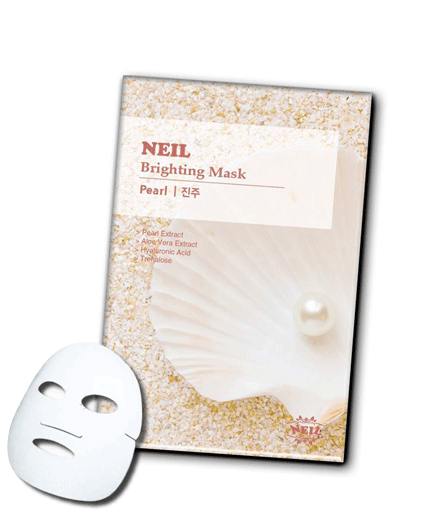 Тканевая Осветляющая Маска С Жемчугом Neil Brightening Mask Pearl