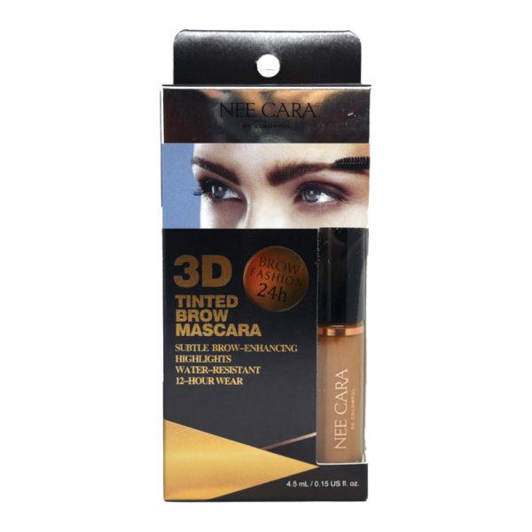 Тушь Для Бровей С 3D Эффектом Nee Cara 3d Tinted Brow Mascara