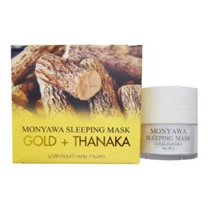 Ночная Маска С Танакой И Золотом Monyawa Sleeping Mask Gold Thanaka