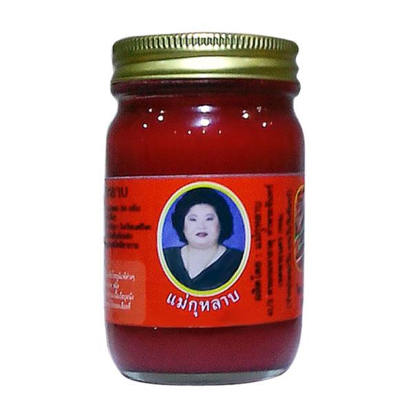Тайский Красный Бальзам С Перцем Ме Кулаб Hamar Osoth, 50 гр