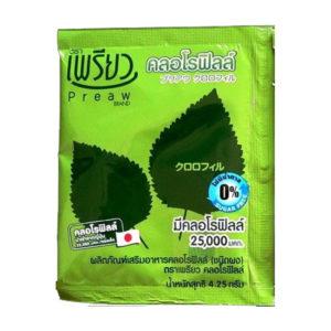 Тайский Хлорофилл Порошок Питьевой Preaw Brand Chlorophyll Dietary Supplement Product (Powder)