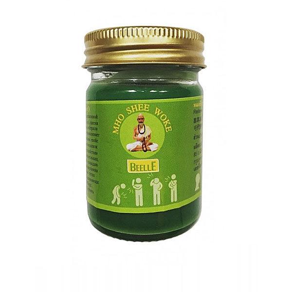 Тайский зеленый бальзам с маслом пачули