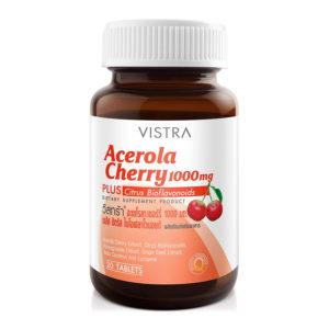 Барбадосская Вишня (Ацерола) VISTRA Acerola Cherry 1000 mg