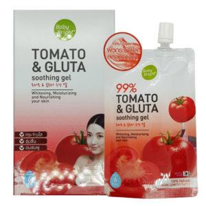 Успокаивающая Гель-Сыворотка Для Лица ИТела С Томатом И Глутатионом Baby Bright 99% Tomato & Gluta Soothing Gel