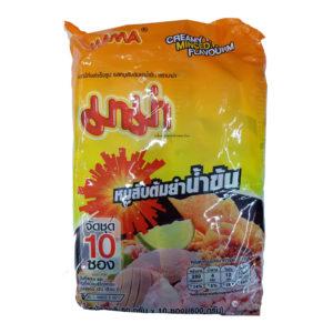 Тайская Лапша МАМА Новый Вкус Суп-Соус Со Свининкой, Перчиком , Лимоном