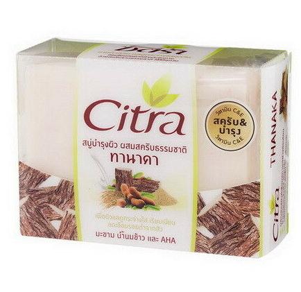 Отбеливающее Мыло-Скраб С Порошком Танаки И Тамариндом Citra Thanaka Whitening Scrub Bar Soap