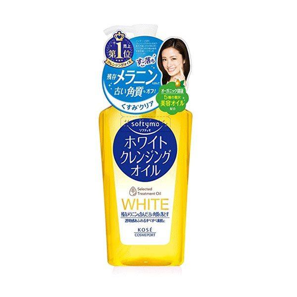 Очищающее Гидрофильное Масло Для Снятия Макияжа С Отбеливающим Эффектом Kose Softymo White Cleansing Oil