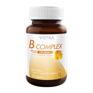 Комплекс Витаминов Группы B+Минералы Vistra B Complex Plus Minerals