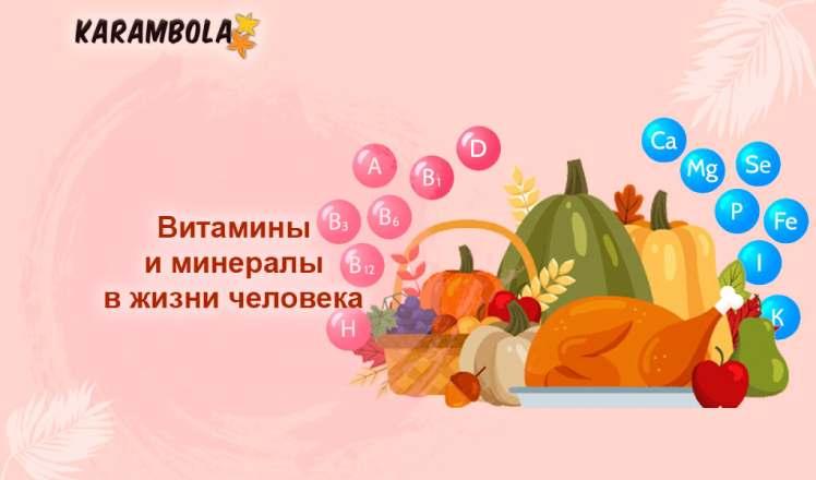 витамины и минералы для человеческого организма