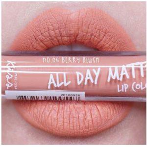 Жидкая Матовая Помада #05 Berry Blush Malissa Kiss All Day Matte Lip