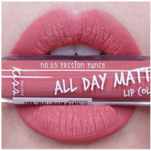 Жидкая Матовая Помада #03 Passion Punch Malissa Kiss All Day Matte Lip
