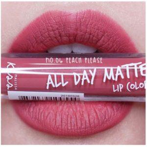 Жидкая Матовая Помада #06 Peach Please Malissa Kiss All Day Matte Lip