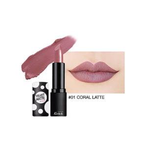 Матовая Губная Помада Malissa Kiss Velvet Matte Lip Color #01 Coral Latte