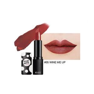 Матовая Губная Помада Malissa Kiss Velvet Matte Lip Color #05 Wine Me Up
