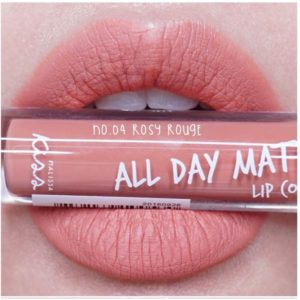 Жидкая Матовая Помада #04 Rosy Rouge Malissa Kiss All Day Matte Lip