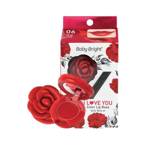 Бальзам Для Губ С Экстрактом Розы Baby Bright I Love You Color Lip Rose
