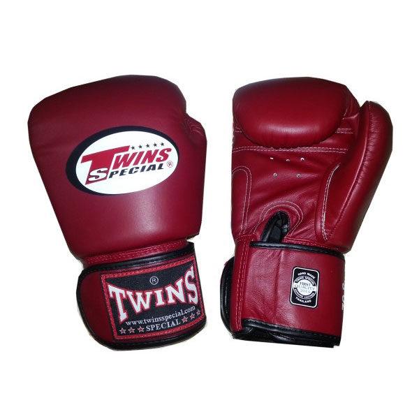 Боксерские перчатки цвет бордовый