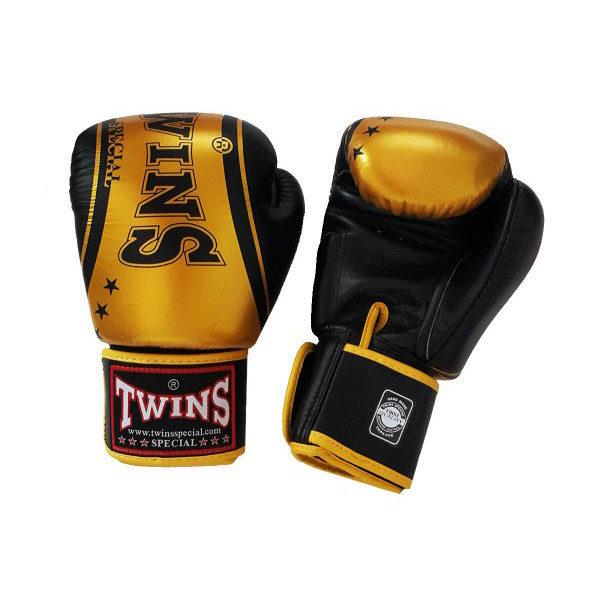 Боксерские перчатки цвет черный и золото
