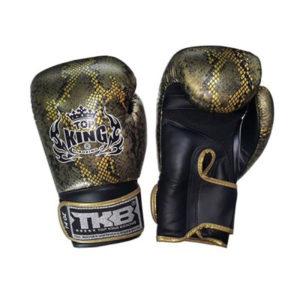 Боксерские перчатки черные с золотом