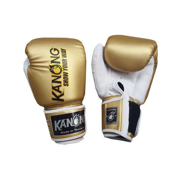 Перчатки для бокса золотые