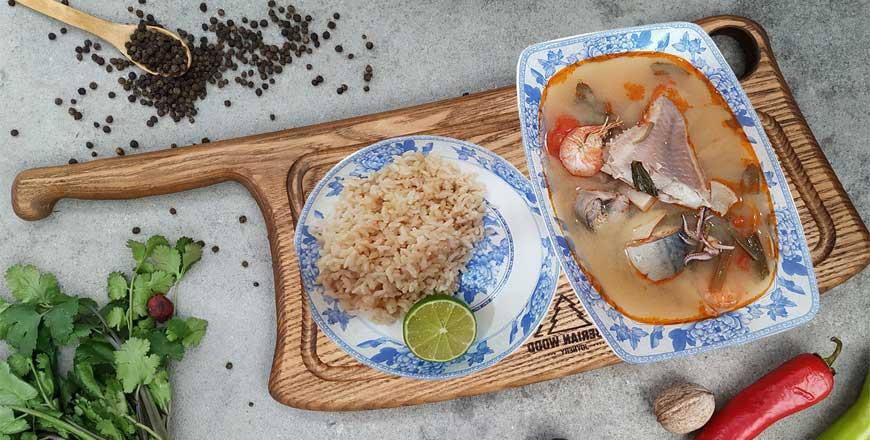 Том Ям - острый суп с морепродуктами по классическому тайскому рецепту