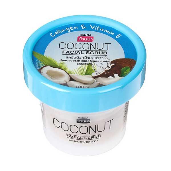 Скраб для лица с коллагеном, витамином E и экстрактом кокоса