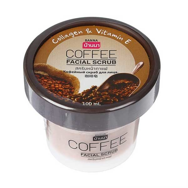 Скраб для лица с коллагеном, витамином E и экстрактом кофе