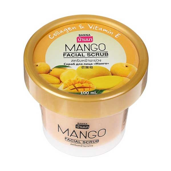 Скраб для лица с коллагеном, витамином E и экстрактом манго