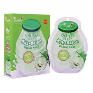 Увлажняющая Тканевая Маска Для Лица Молоко И Дыня Moods